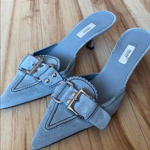 Prada baby blue small heel